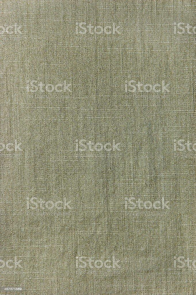Natural Dark Khaki Cotton Texture Closeup, vintage linen textured fabric stock photo