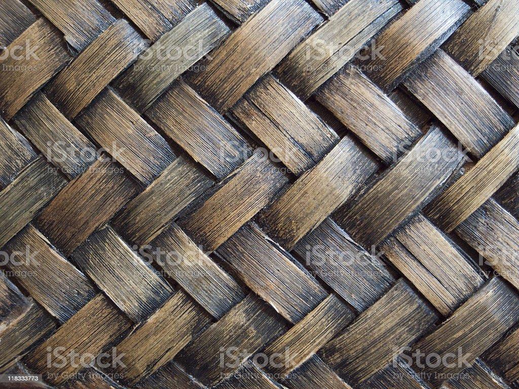 Natural dark rattan background texture royalty-free stock photo
