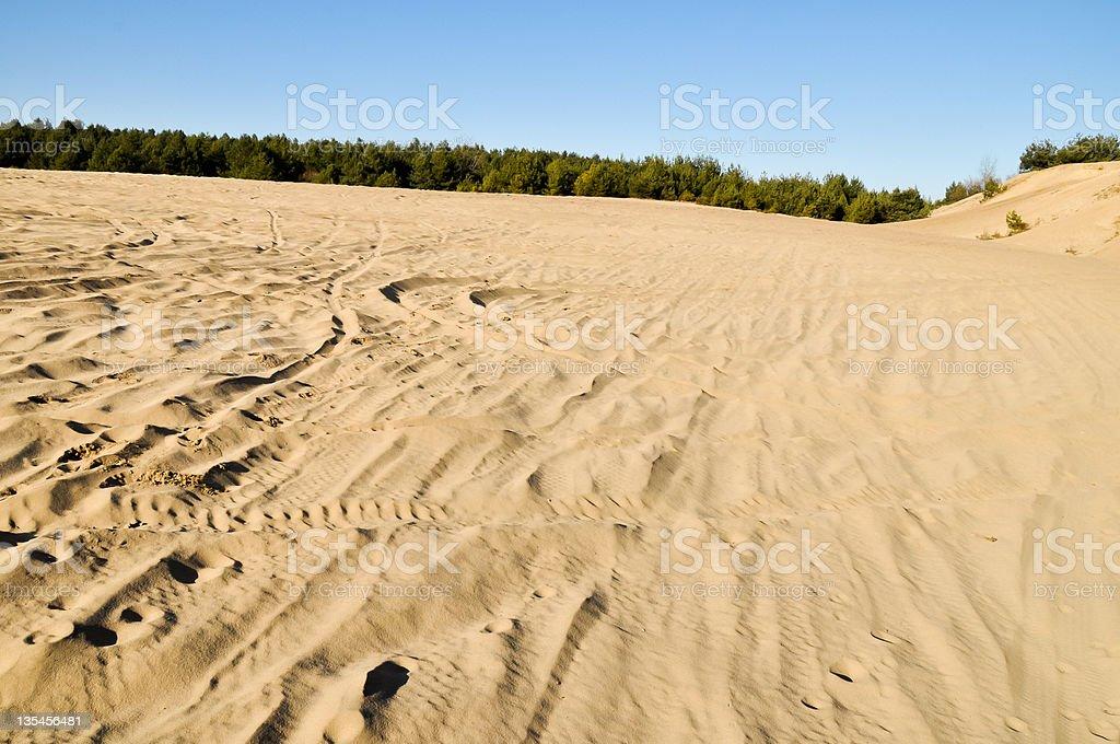 Natürliche Wüstenlandschaft in Europa Lizenzfreies stock-foto