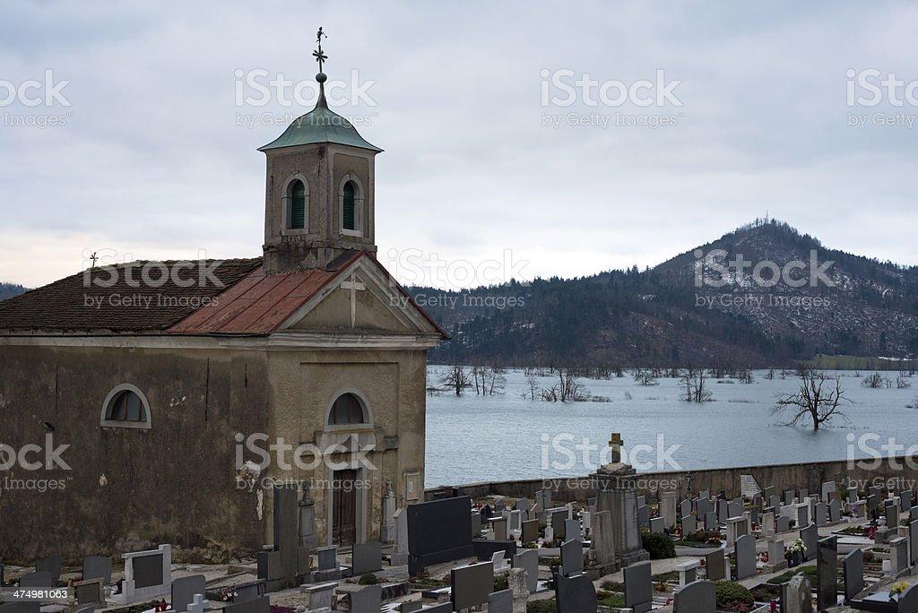 Natural Disaster in Planina, Notranjska, Slovenia, Europe royalty-free stock photo
