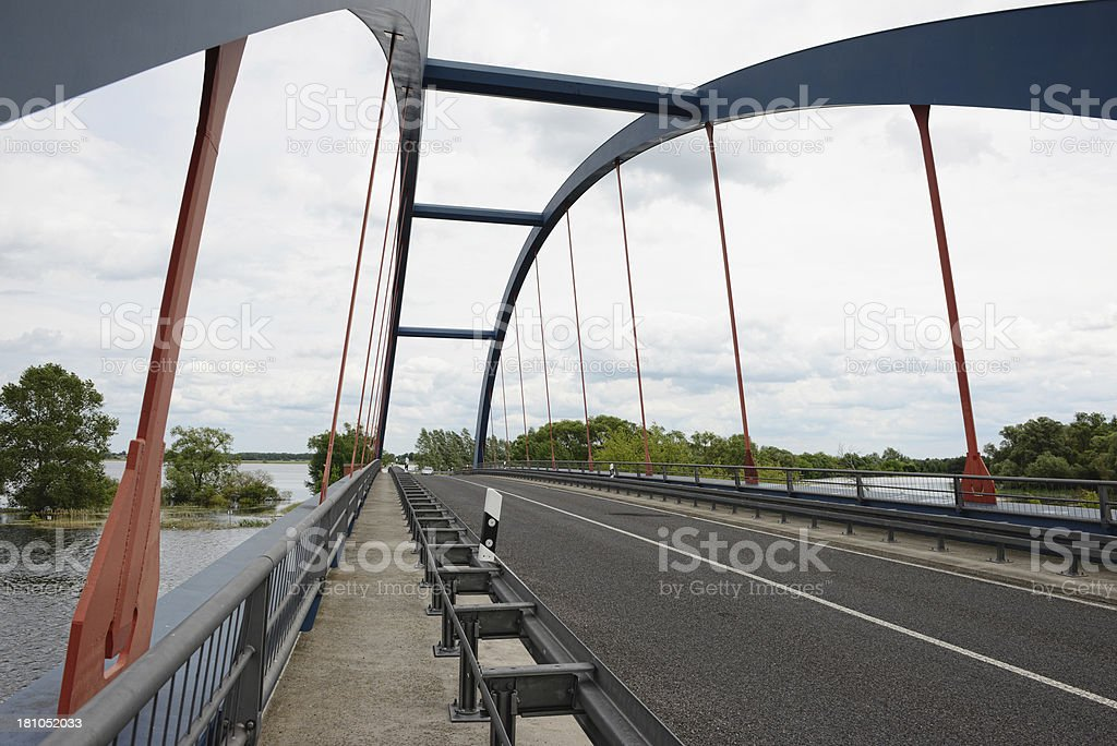 natural disaster of great flood 2013 in Strohdehne (Germany) stock photo