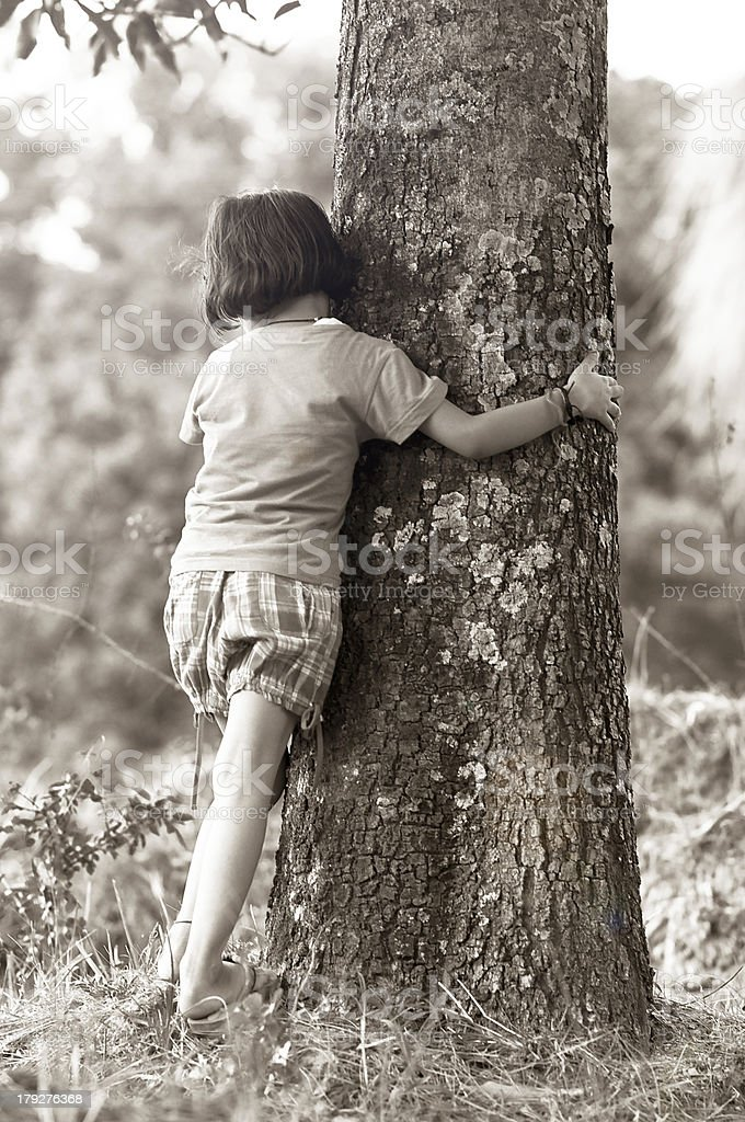 Natural Disaster, Save Tree, black & White royalty-free stock photo