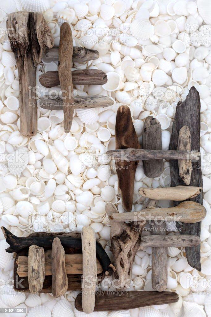 Natural Driftwood Abstract stock photo