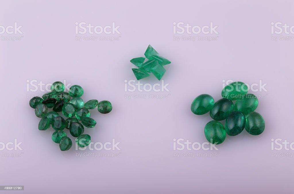 Natural emerald stock photo