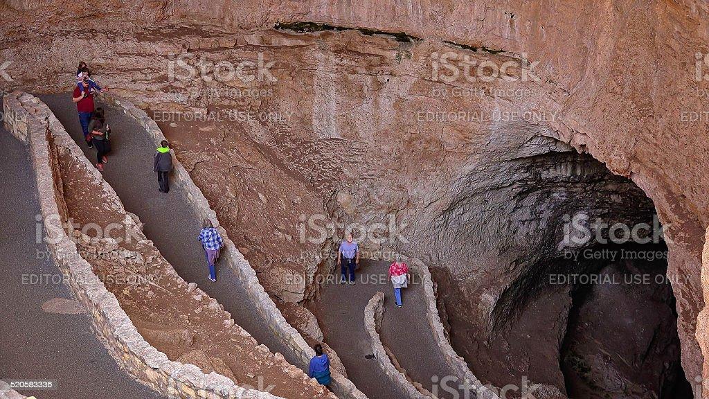 Natural Entrance Trail at Carlsbad Caverns National Park stock photo