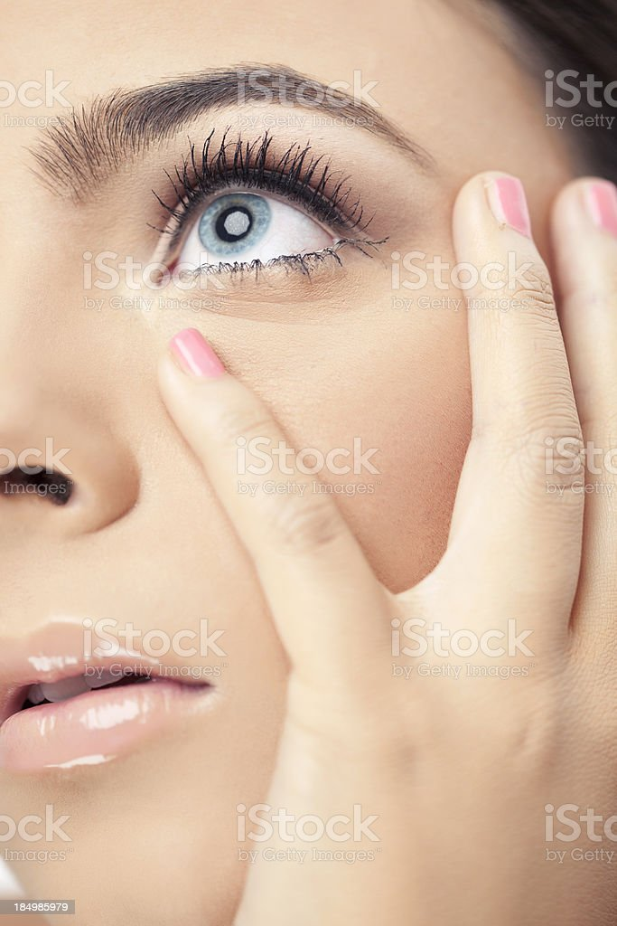 Natural eye makeup. royalty-free stock photo