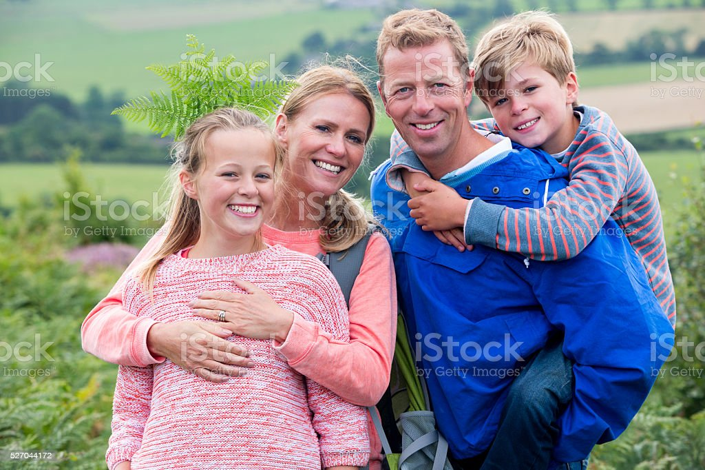 Natural Family stock photo