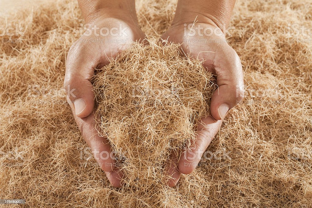 Natural Fiber stock photo