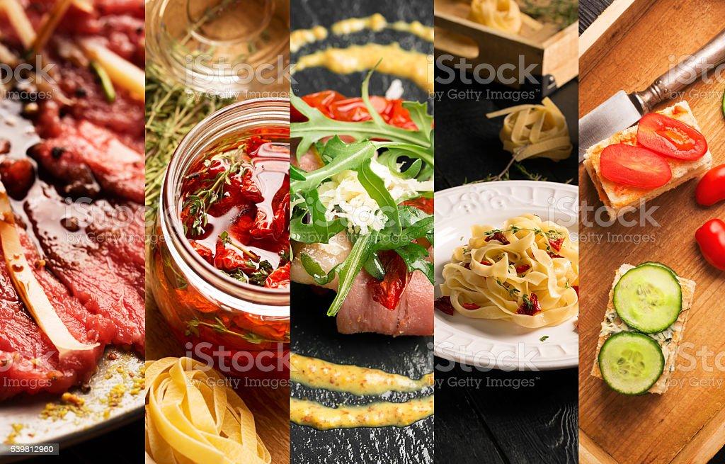 Natural food (various cuisines) stock photo