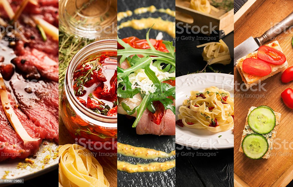 Natural food (various cuisines) stock photo