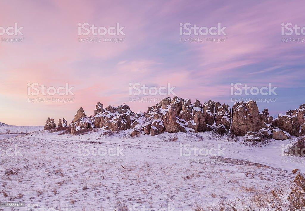 Natural Fort landmark at dawn royalty-free stock photo