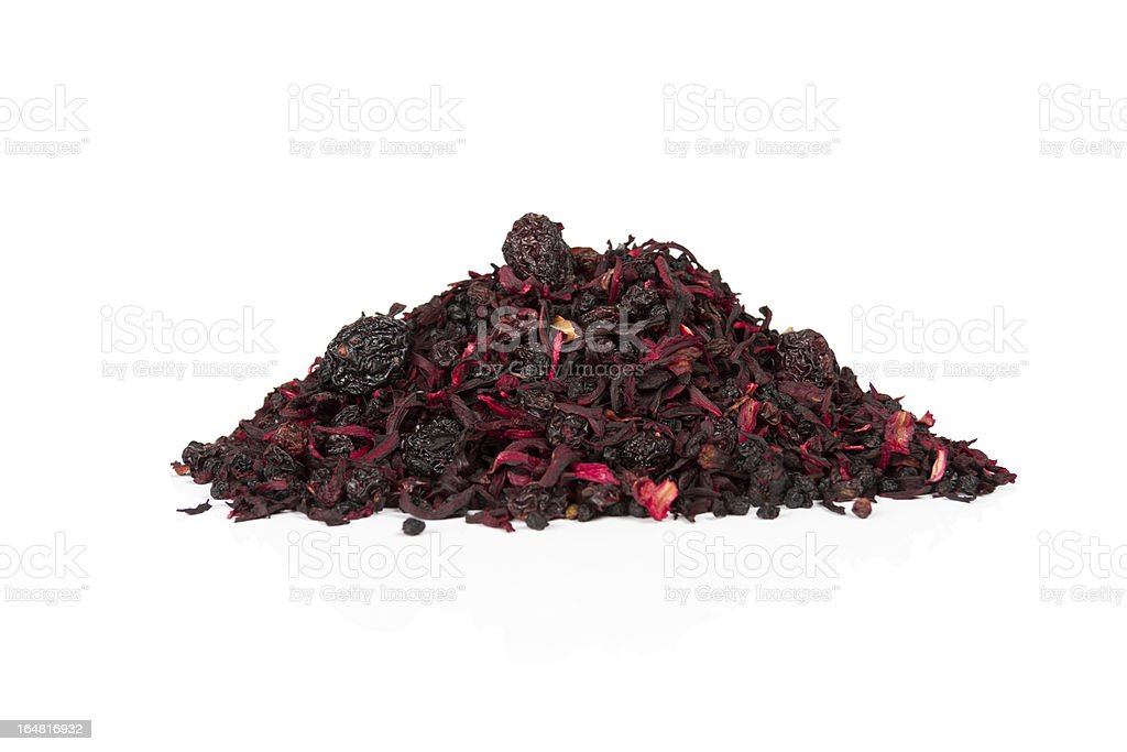 Natural Fruit Tea With Cherry royalty-free stock photo