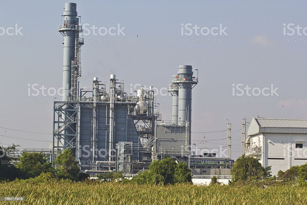 Natural Gas Combined Cycle Power Plant royalty-free stock photo