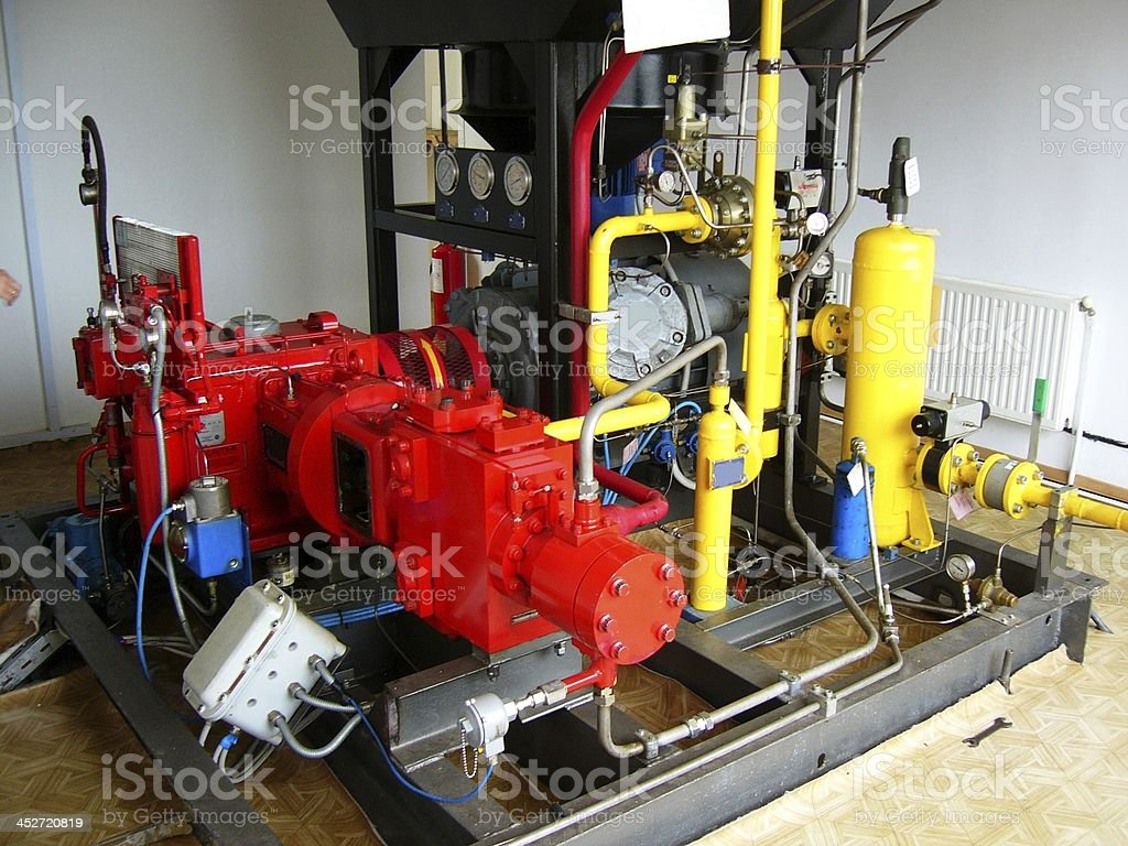 Natural gas compressor unit stock photo