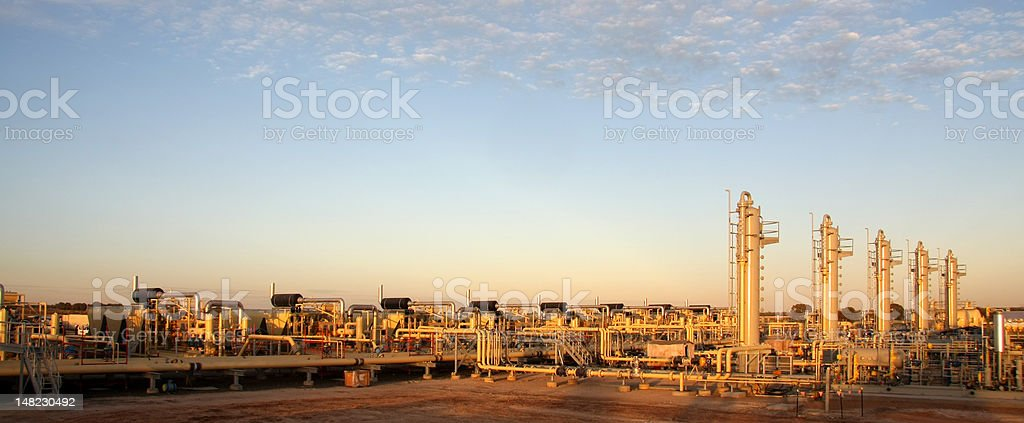 Natural gas compressors and distribution stock photo