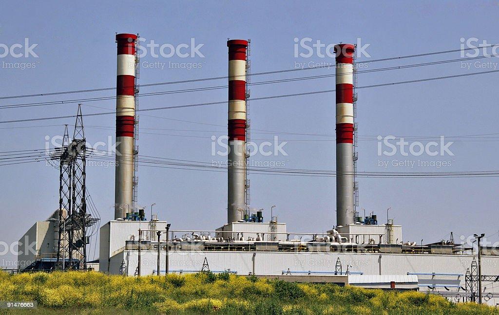 natural gas conversion plant royalty-free stock photo