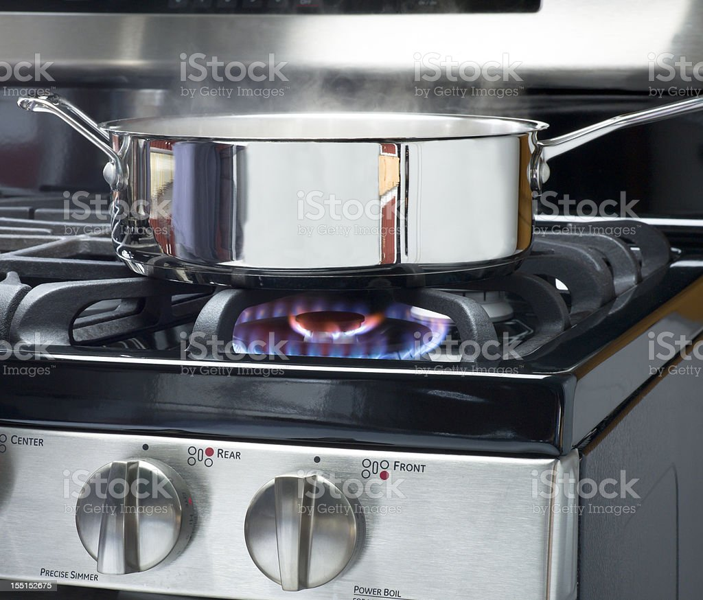 Natural Gas Cooking. stock photo