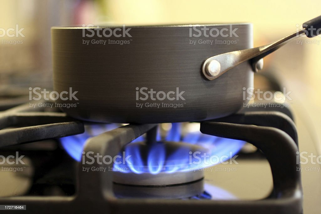 Natural Gas cooking stock photo