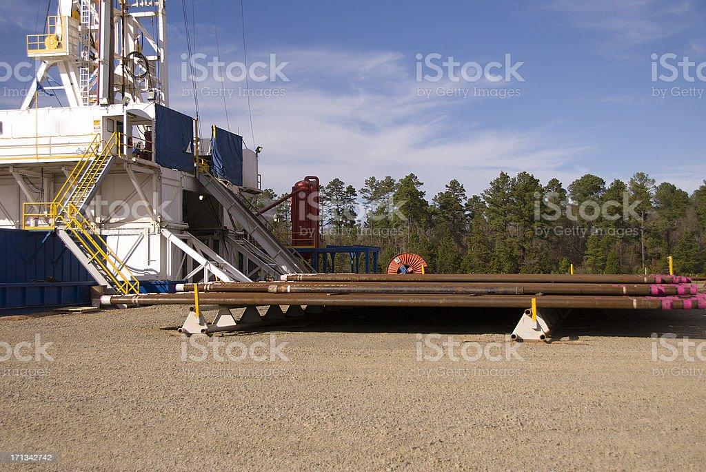 Natural Gas Drilling Rig royalty-free stock photo