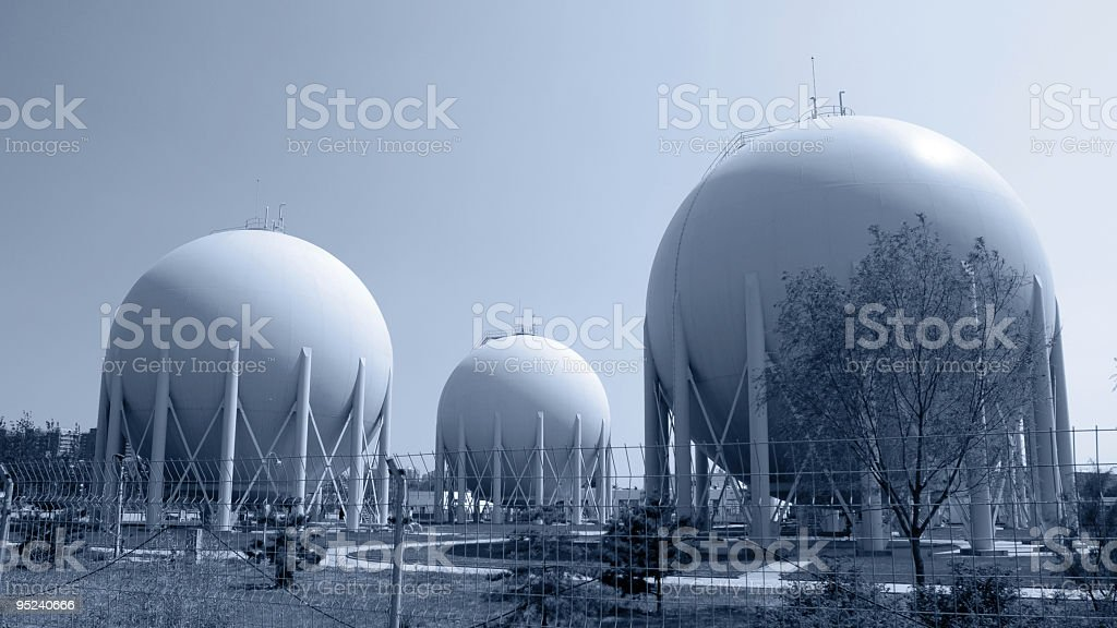 Natural Gas Factory stock photo
