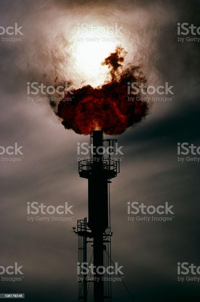 Natural Gas flare royalty-free stock photo