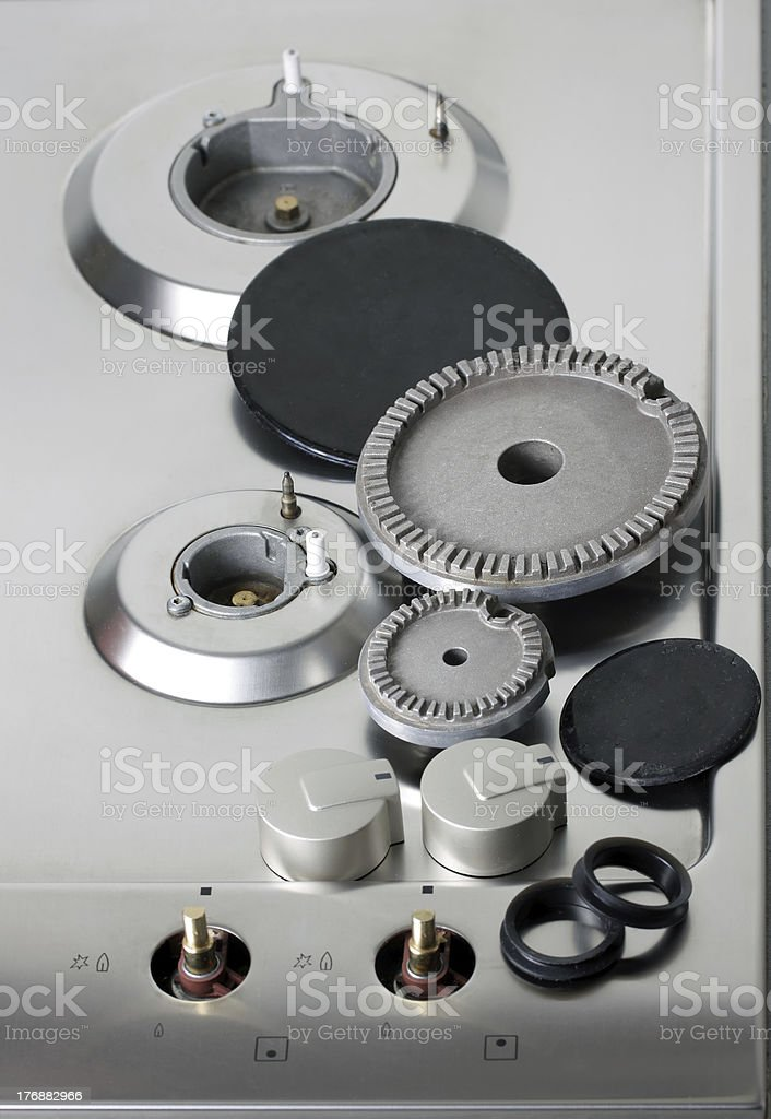 Natural Gas Hot Plate stock photo
