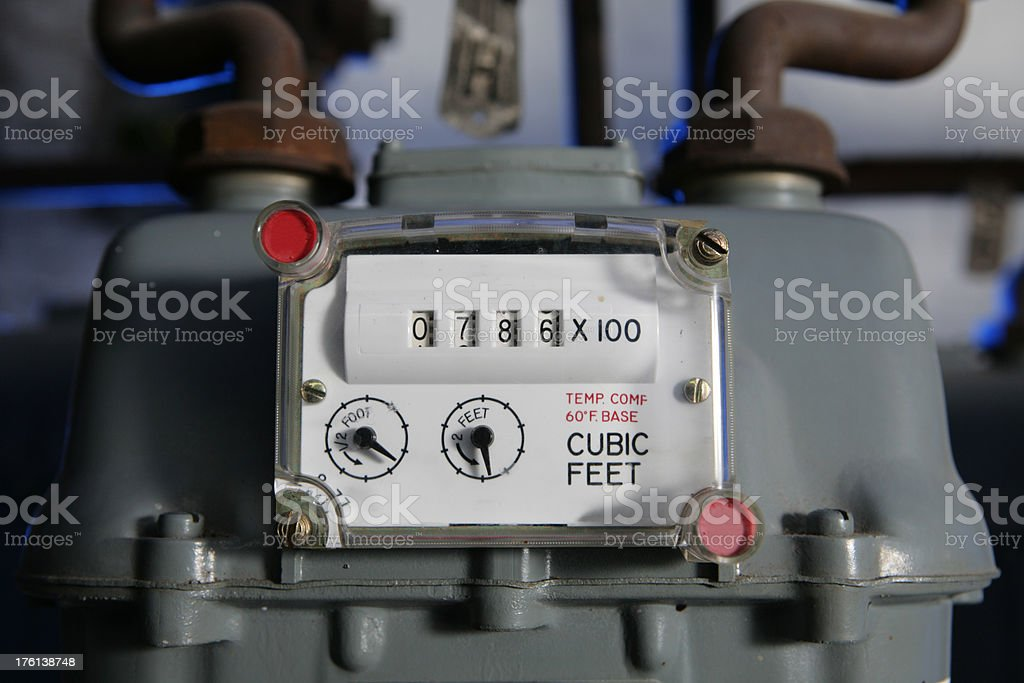 Natural Gas Meter royalty-free stock photo