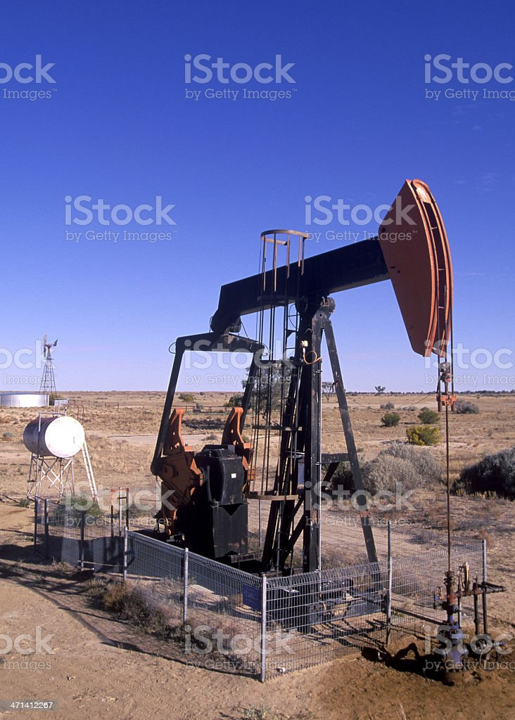 natural gas mining stock photo