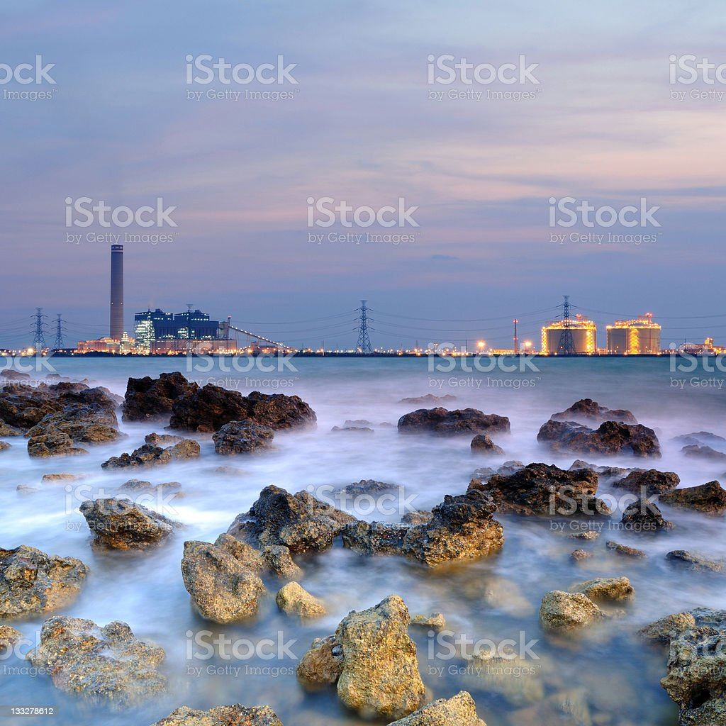 Natural Gas Power Plant royalty-free stock photo