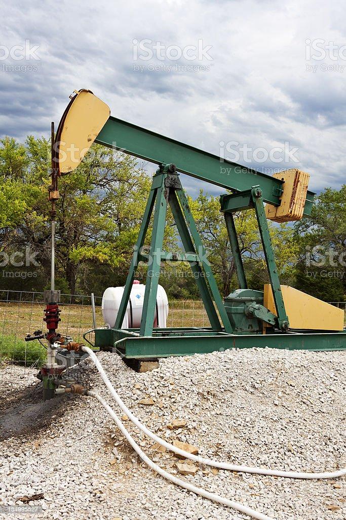 Natural Gas Pump Jack royalty-free stock photo