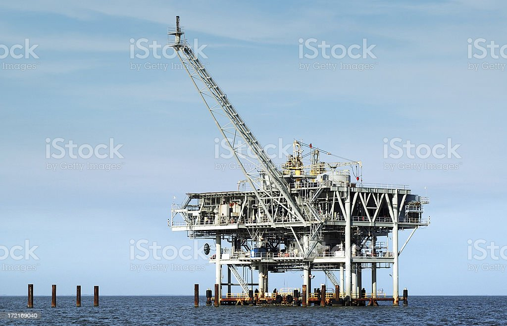 Natural Gas Rig, Gulf of Mexico royalty-free stock photo