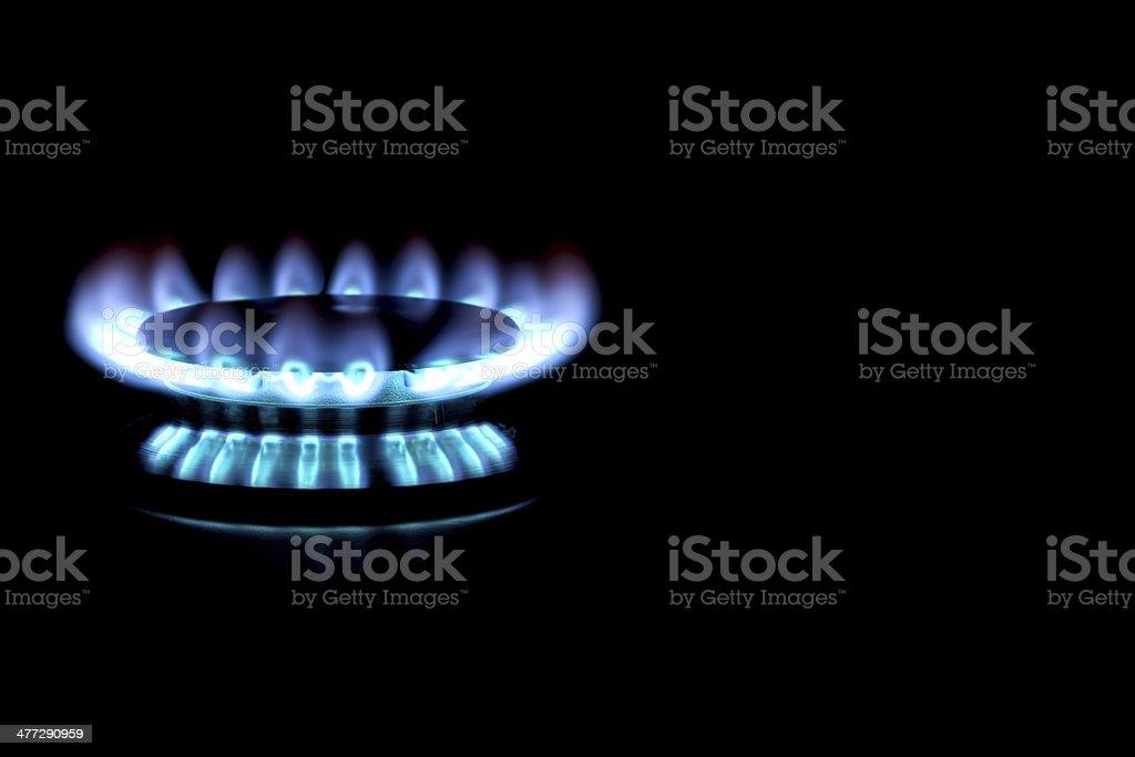 Natural Gas Stove Burner stock photo