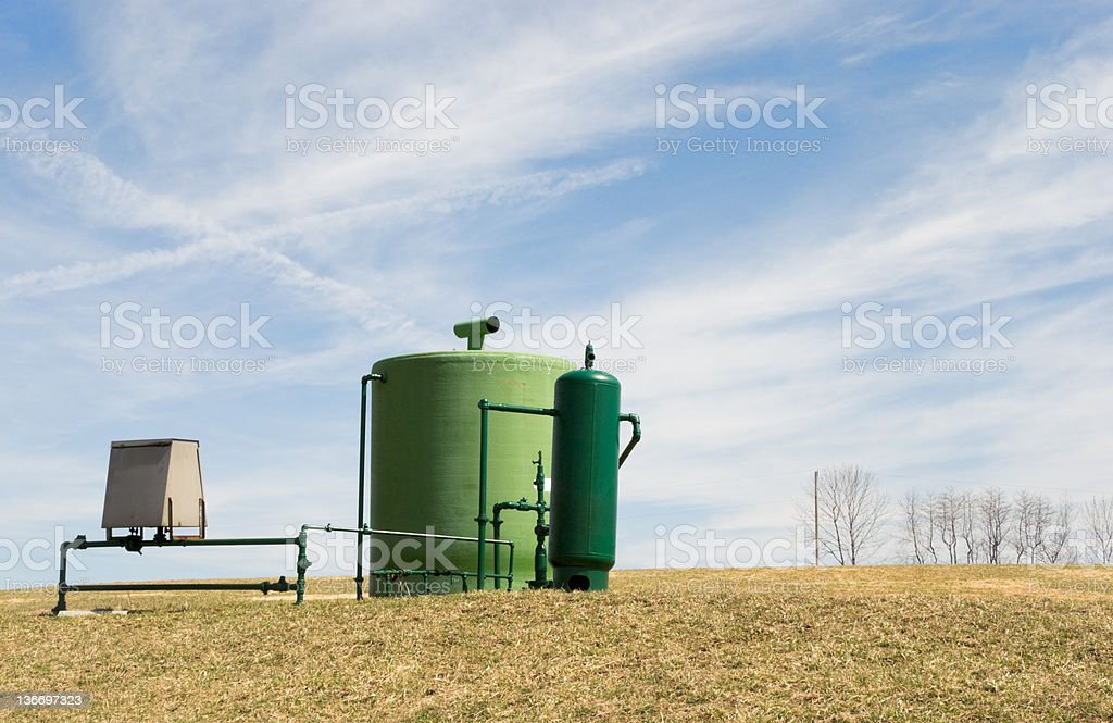 Natural Gas Well in Farm Field, Pennsylvania Fossil Fuel royalty-free stock photo
