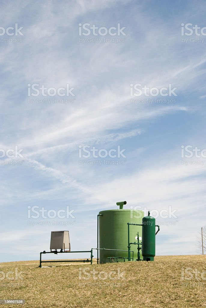 Natural Gas Well Installation, Fossil Fuel Extraction royalty-free stock photo