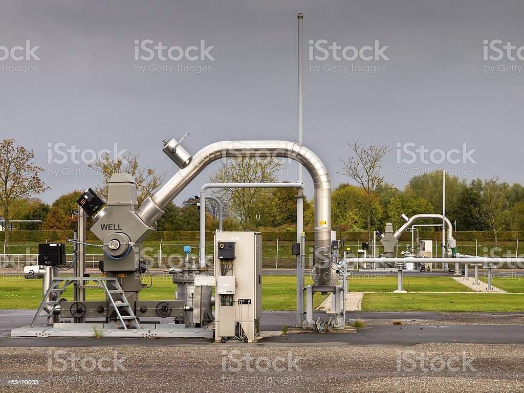 Natural gas well stock photo
