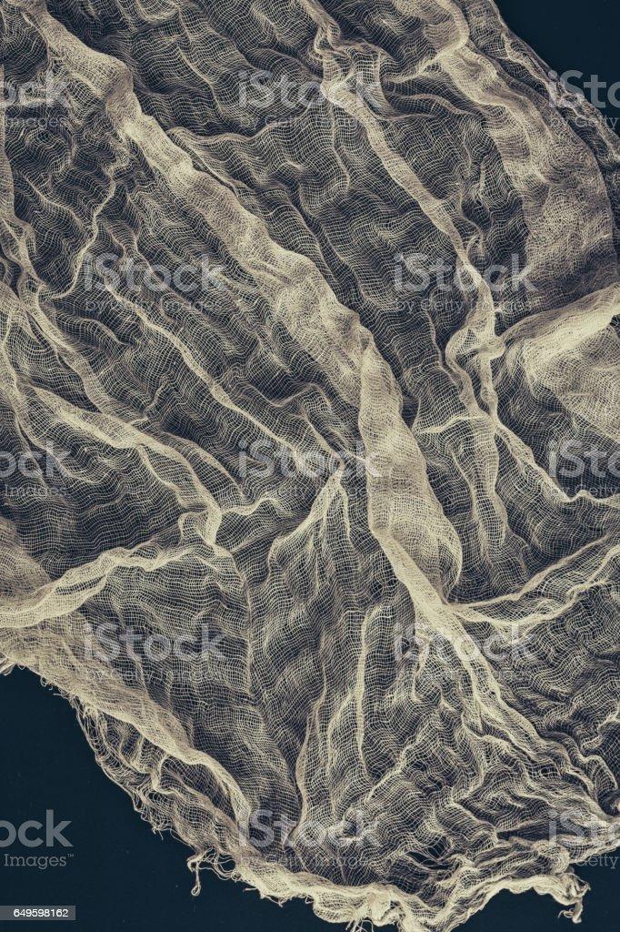 Natural gauze. Natural fabric stock photo