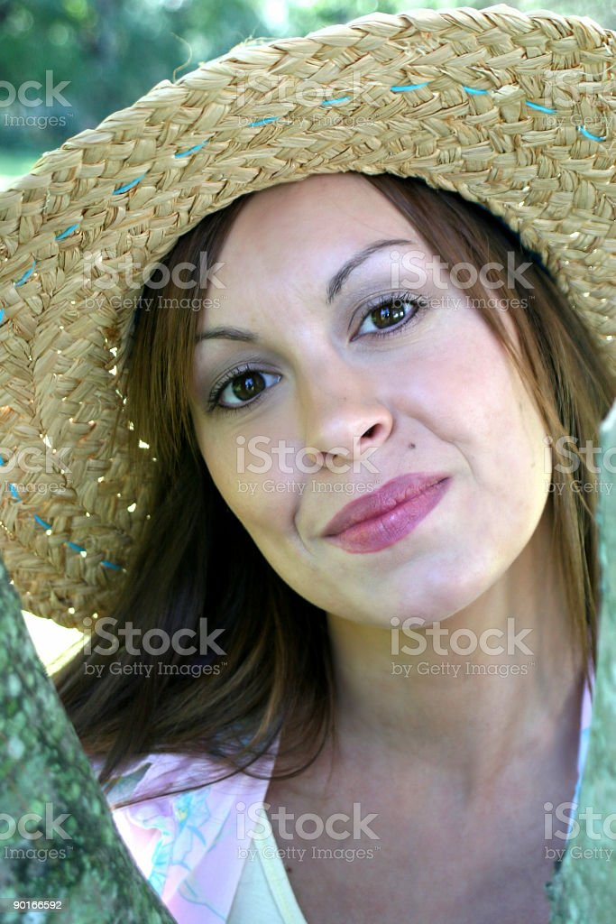 natural girl royalty-free stock photo