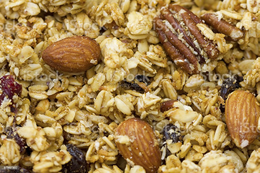 Natural Granola royalty-free stock photo