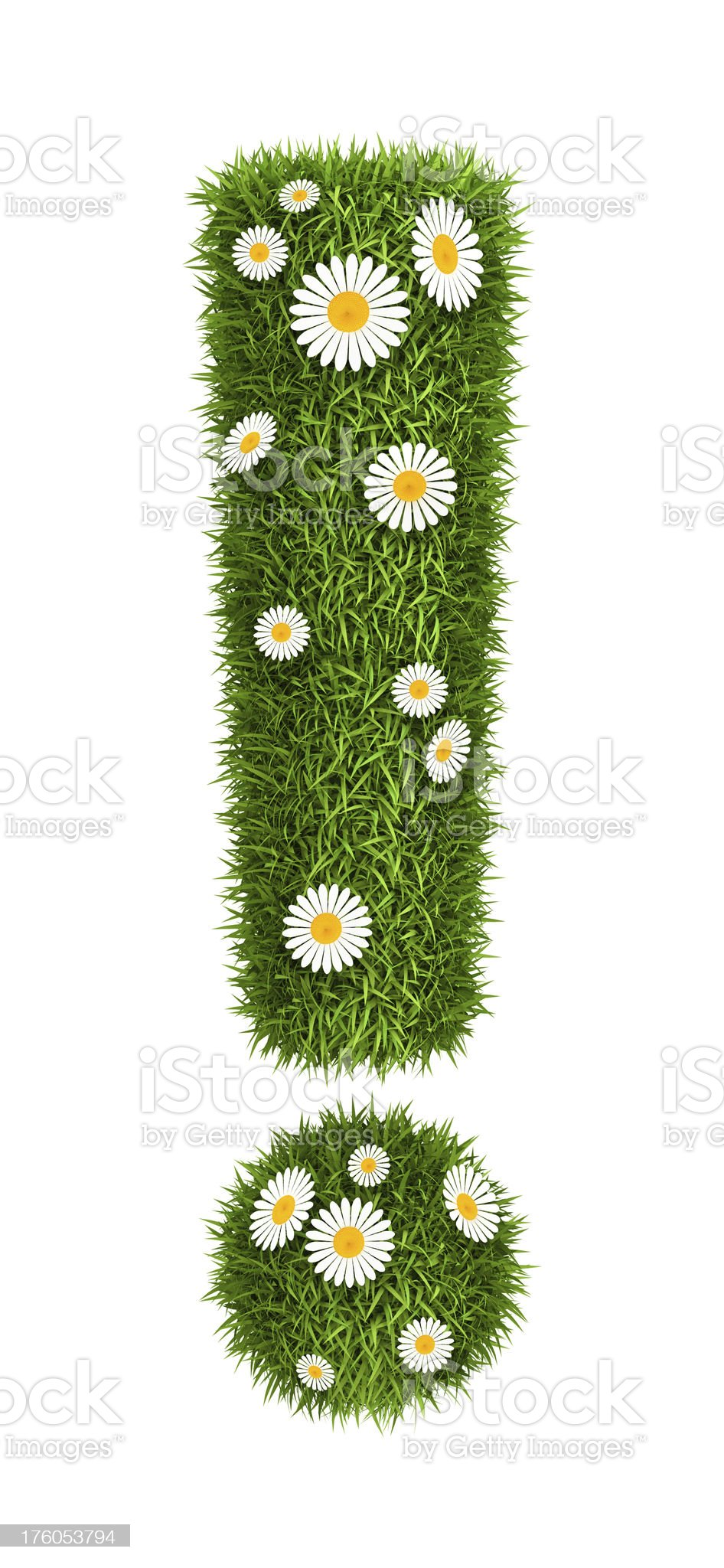 Natural grass exclamation royalty-free stock photo