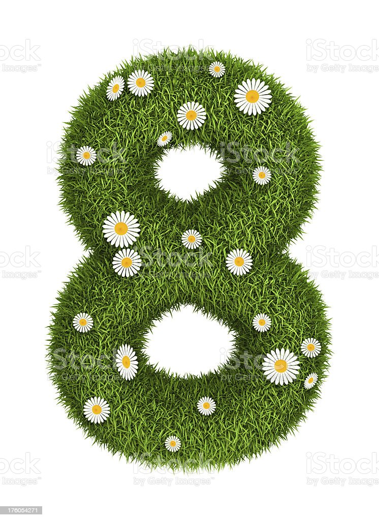 Natural grass number 8 royalty-free stock photo