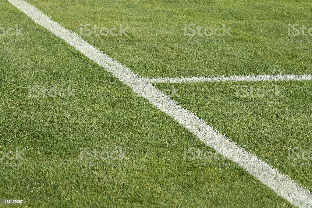 Natural green lawn with markup royalty-free stock photo