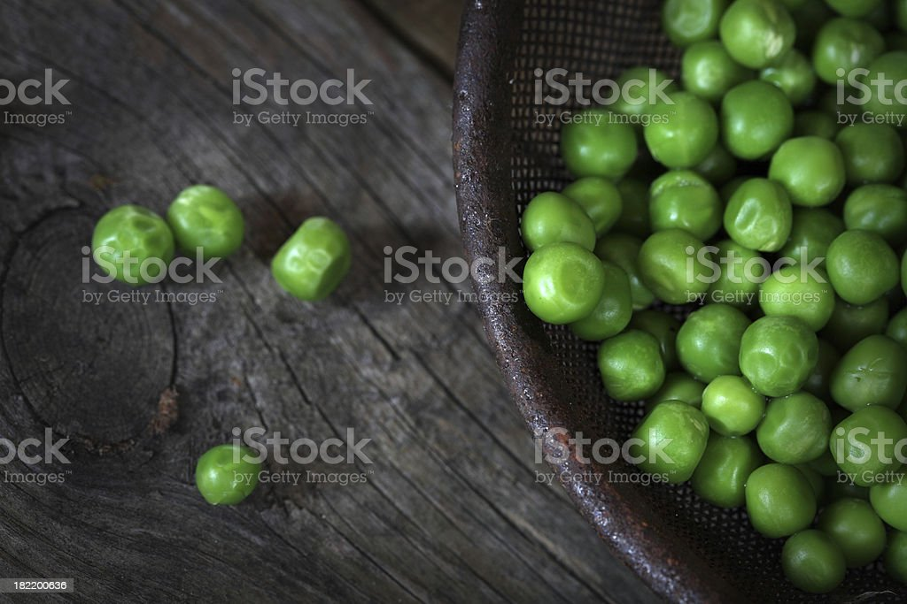 Natural green peas. stock photo