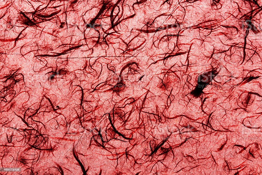 Natural handmade paper pattern red royalty-free stock photo