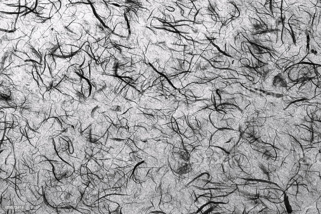 Natural handmade paper texture black and white royalty-free stock photo