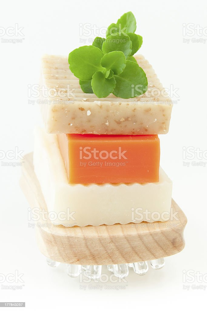 Natural handmade soap for spa royalty-free stock photo
