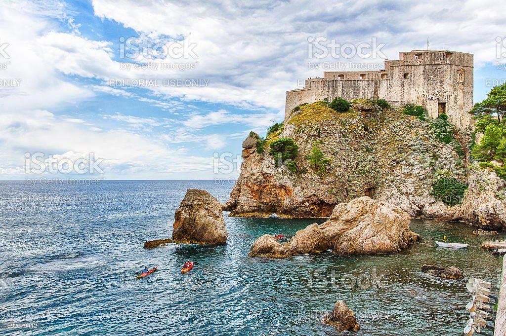 Natural HDR of Fort Lovrijenac in Dubrovnik, Croatia stock photo