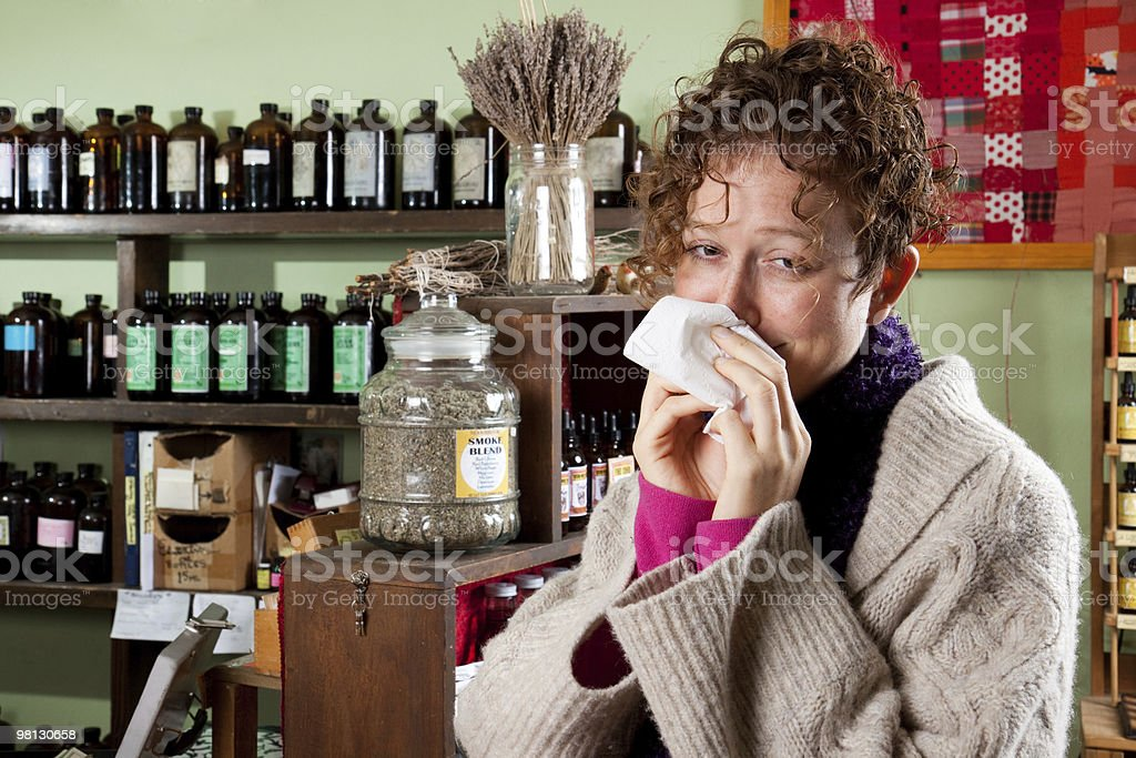 Natural healing in the flu season stock photo