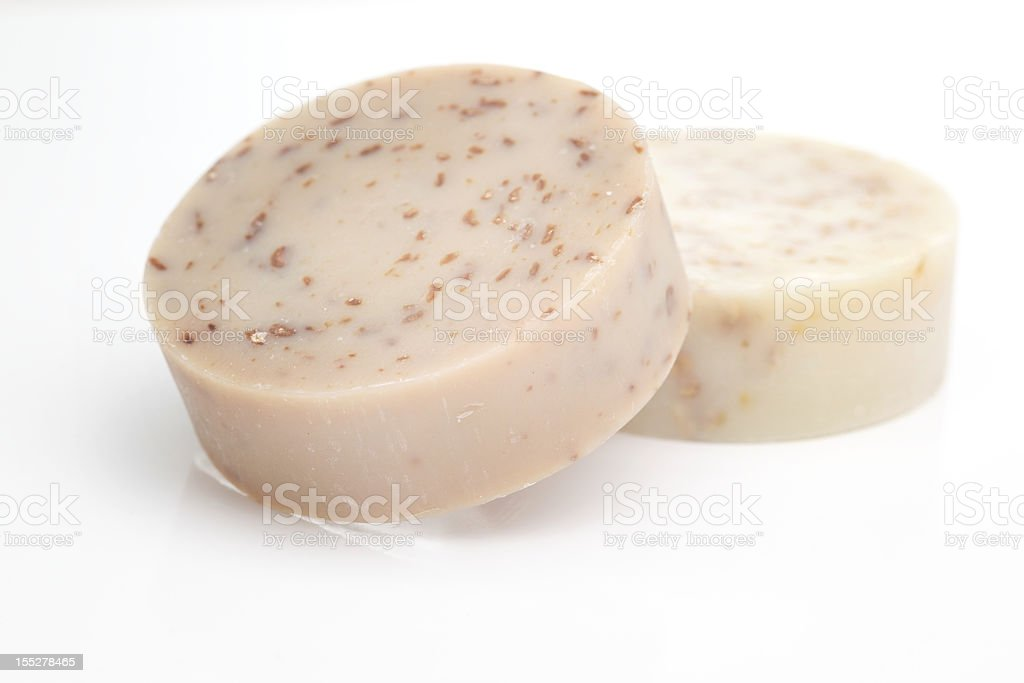 Natural health care hygiene soap exfoliate stock photo