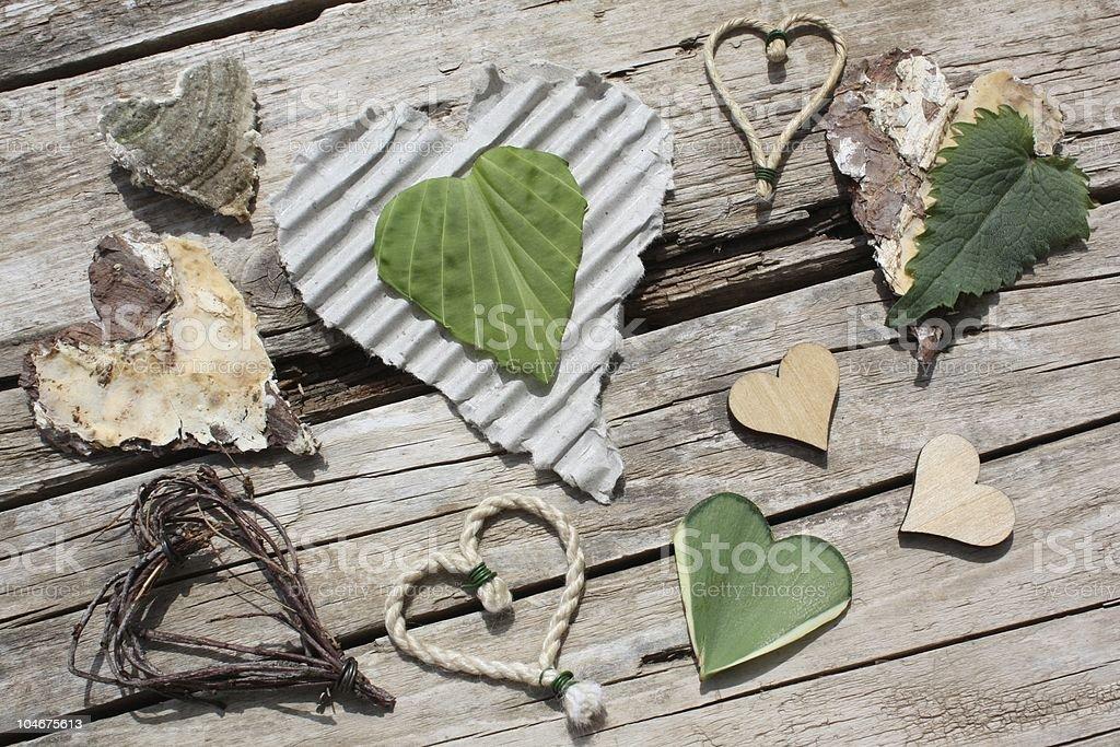 «naturel» coeur photo libre de droits