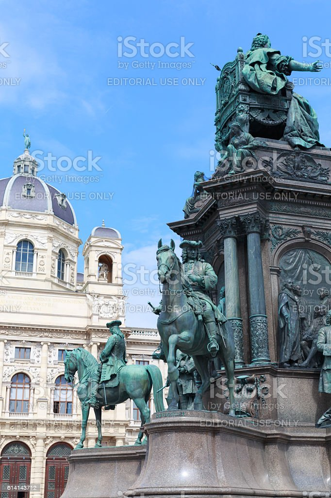 Natural History Museum and Maria Theresia monument stock photo
